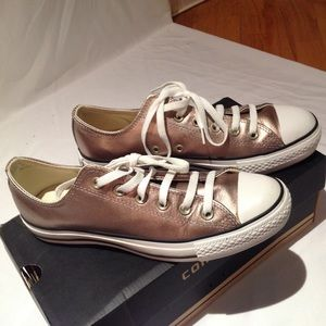 Men's Converse All Stars Low Gold Metallic Shoes